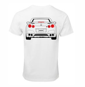NISSAN SKYLINE R35 GTR T-SHIRT COTTON RACE CAR TURBO JDM DRIFT SHIRT