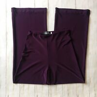 Sympli Womens Size 6 Merlot Jersey Stretch Essential Straight Leg Pull On Pants