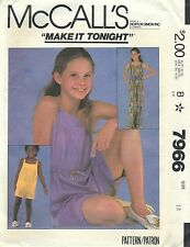 McCall's 7966 Girls' Jumpsuit Size 14   Sewing Pattern
