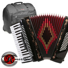 Rossetti 3460 60 Bass 34 Keys 5 Switch Piano Accordion - BLACK + Padded Gig Bag