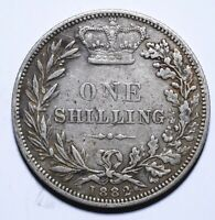1882 UK One 1 Shilling - Victoria 1st portrait; 'Young Head' - Lot 422