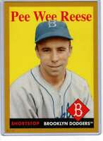 Pee Wee Reese 2019 Topps Archives 5x7 Gold #39 /10 Dodgers