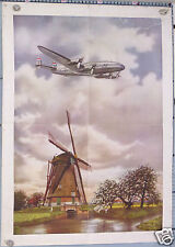 AFFICHE ANCIENNE KLM CONSTELLATION HOLLANDE - VINTAGE POSTER The Flying Dutchman