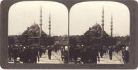 Costantinopoli Moschea Turchia Foto Stereo Stereoview Analogica Vintage
