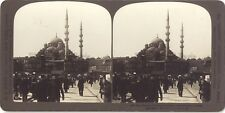 Constantinople Mosquée Turquie Photo Stereo Stereoview Argentique Vintage