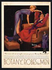 BOTANY ROBES AD MENSWEAR PIN UP GIRL Original 1940s Vintage Print Ad*Retro