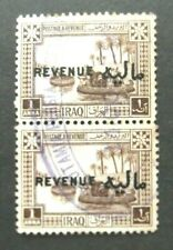 Iraq-1923-2 British Occ .1 Anna Revenues-Joined pair-Used