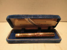 Watermans Ideal Safety Fountain Pen No.552 1/2V 14K Gold Hand Engraved