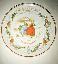 New Wedgwood Peter Rabbit Christmas Plate 1997 New in Box 8� Made in England
