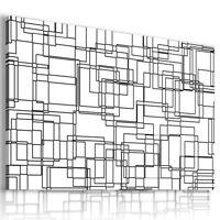 ABSTRACT SQUARES BLACK WHITE CANVAS MODERN WALL ART PICTURE AZ548 MATAGA .