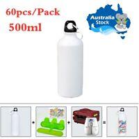 AU 60pcs/Pack 500ml Blank Aluminum Sports Bottle for Sublimation Printing, White