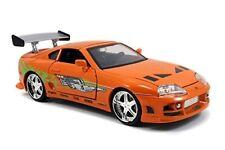 Car Jada Toys Fast Furious 1 24 Diecast Toyota Supra Vehicle Orange Collectors
