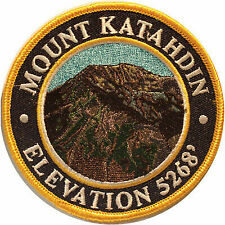 Mountain Patches Mount Katahdin Embroidered Hiking Patch