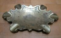 Antique 19c Pat Apld For Bronze Brass Cigar Ashtray Tray Decorative Arts