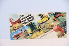 New Holland harvesting machinery range 1980 tractor booklet brochure