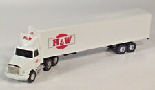 "Ertl White GMC Aero H&W Trucking Semi Truck 10.75"" Diecast 1:64 Scale Model"