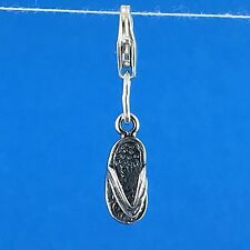925 Sterling Silver Flip Flop Clip on Charm