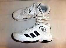 Vintage Adidas Men's Athletic Sneakers Tennis Shoes High Top White/Black Size 10