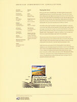 US #5258 Sleeping Bear Dunes Souvenir Page 1805 Commemorative Cancellation Stamp