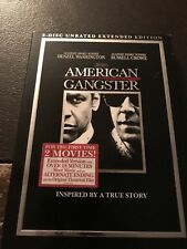 2-Disc DVD - American Gangster (2008, Unrated, Extended Edition) w/ Slipcover