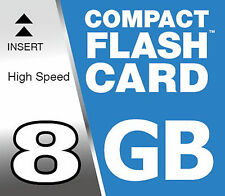 8 GB Compact Flash Carte CF pour Sony Alpha 200