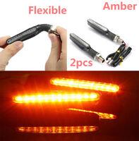 2x Motorcycle Motorbike Bright Amber Yellow 12 LED Turn Signal Indicator Lights