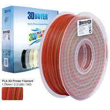 3DBUYER® 3D Printer PLA 1.75mm Changing Filament 1kg Rainbow Multicolor