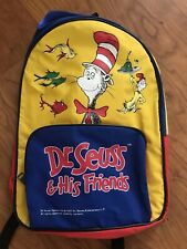 Vintage 1997 Dr. Suess And His Friends Kids Multi Color Backpack Free Shipping