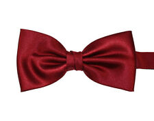 Wine Red Burgundy PreTied Mens Bow Tie BowTie Pre Tied Adjustable Dickie Wedding