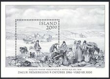 Iceland 1986 Art/Paintings/Stamp Day/Horses/River/Animals/Transport m/s (n40348)