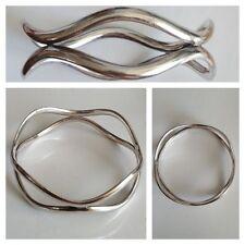 MODERNO ARGENTO BRACCIALE RIGIDO 925er Bracciale in argento accessori in argento