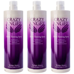 New Crazy Angel Twilight Mistress 9% DHA 1L Fake Spray Tan Special Offer 3 for 2