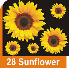 28 SUNFLOWER FLOWER DECALS CAR STICKERS GRAPHICS WINDOW WALL DECORATIONS