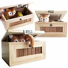 Wooden Useless Box Leave Me Alone Box Most Useless Dont Touch Tiger Toy Gift New