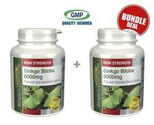 Ginkgo Biloba 6000mg BUNDLE DEAL 120+120 (240) Tablets | For Healthy Circulation