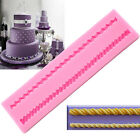 Long Rope Silicone Mold Cake Decoration Sugar Craft Cake Border Chain Clay Mould
