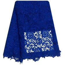 Water Soluble African Cord Nigerian Laces Guipure Embroidery 5 yards Royal Blue