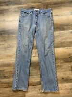 Lee Dungarees 36x34 Regular Fit Blue Jeans Distressed Vintage Grunge