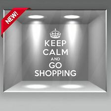 vetrofanie saldi wall sticker keep calm adesivo vetrine sconti sales  shopping 7c5185021bf