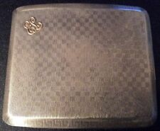 1924 (Fenton Bros) MacHine Tourné silver cigarette case & Gold Monogram (EL) 118 G