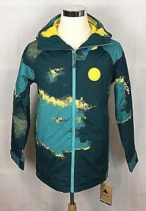 Burton Men's Ski/Snowboard Hilltop Jacket 92 Air Size XS NEW Green Yellow Teal