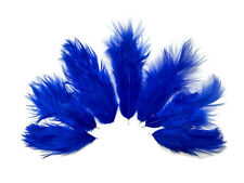 USA SELLER - 1 Dozen - Solid Royal Blue Rooster Fluff Chickabou Feathers