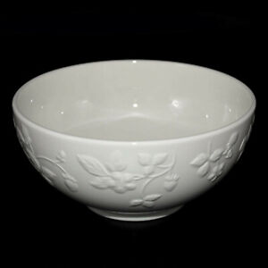 """Wedgwood """"WILD STRAWBERRY WHITE""""  - Cereal Bowl(s)  15cm - BRAND NEW WITH TAGS"""