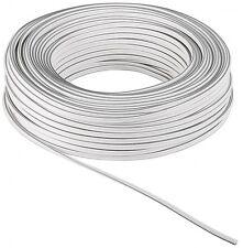 LAUTSPRECHERKABEL (0,40€/m) WEIß/WHITE 2x 0,75mm² OFC-KUPFER 50m