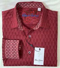 New Robert Graham Becker Men's Sport Shirt In Burgundy Size: S MSRP:$198