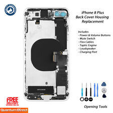 NEW iPhone 8 Plus Fully Assembled Back Cover Housing with ALL Parts - SILVER