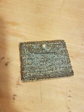 Old Antique French Deco Steel Beaded Small Change Purse