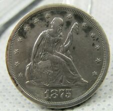 1875-S 20 Cent Piece XF Lightly Cleaned