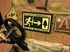 Patch Klett - In Case of Emergency ... - 6,5cm x 4cm   Klett Aufnäher