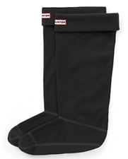 Hunter Womens Black Original Tall Fleece Welly Boot Socks Sz M 5715